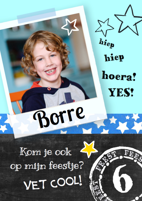 Uitnodiging kinderfeest Borre 1