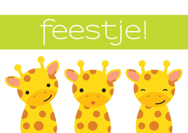 Uitnodiging Kinderfeestje Giraffe 1