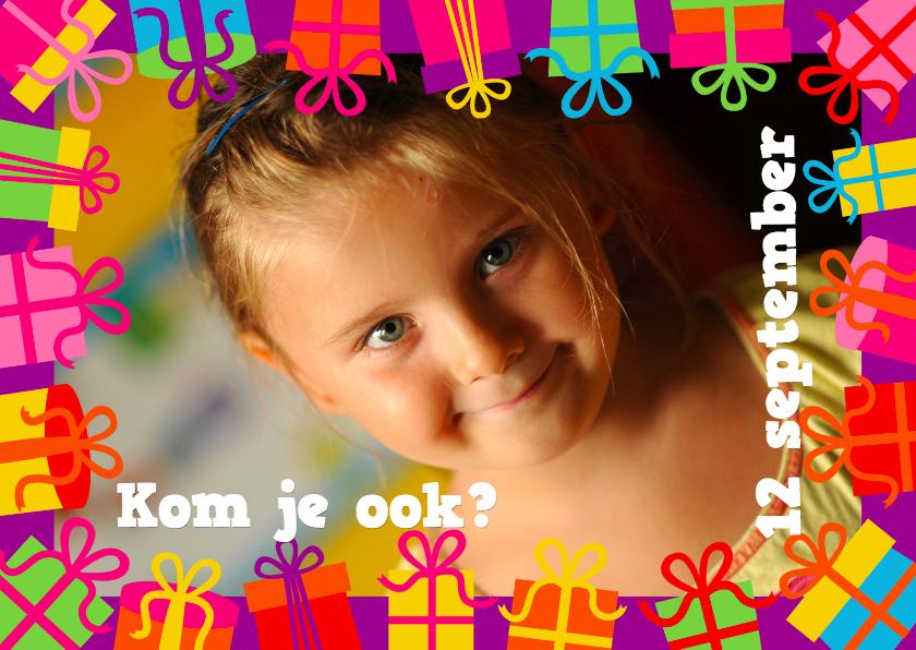 Uitnodiging Kinderfeestje Kadootjes 1