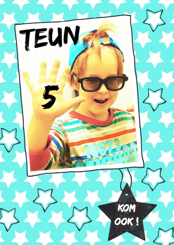 Uitnodiging Kinderfeestje Teun 5 1