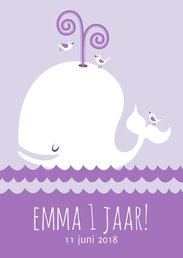 Uitnodiging kinderfeestje walvis 1