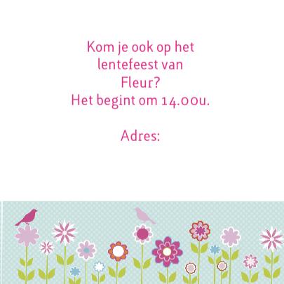 uitnodiging lentefeest bloem 3