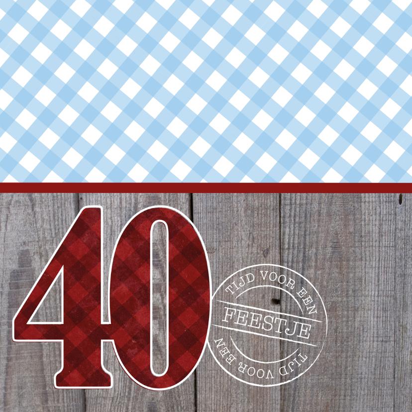 Uitnodiging man 40 stoer 2