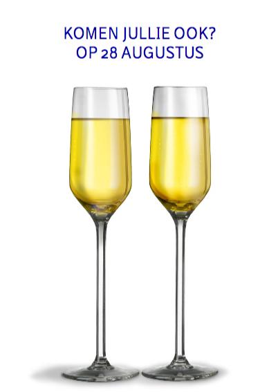 Uitnodiging met gebogen glazen 3