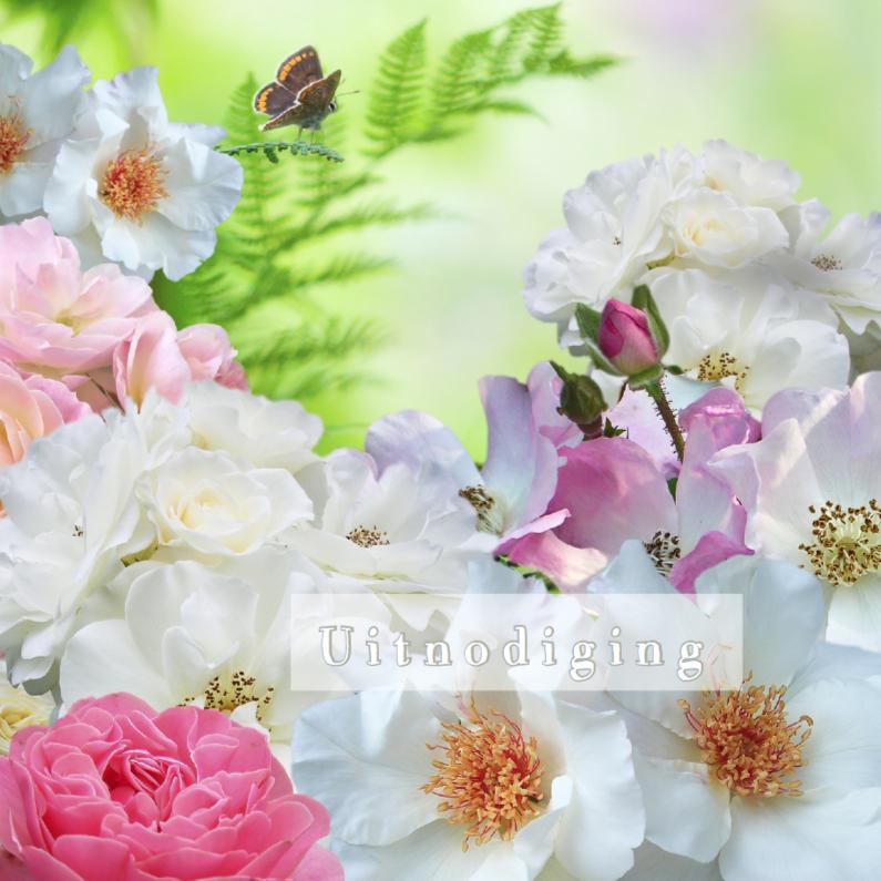 Uitnodiging met rozen 2 1