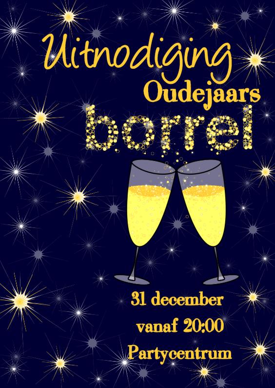 Uitnodiging oude of nieuwjaarsborrel 1