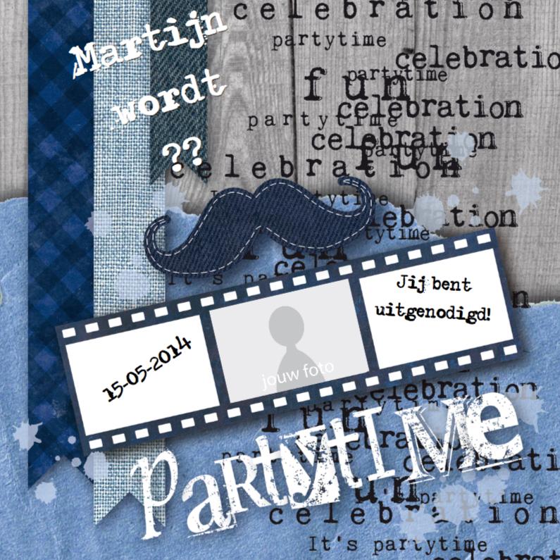 Uitnodiging partytime man  1