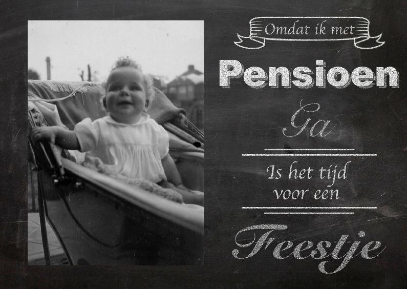 Uitnodiging pensioen krijtbord 1