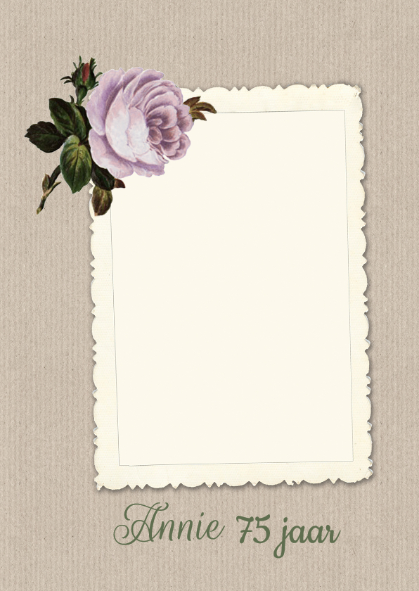 Uitnodiging roosje papier 1