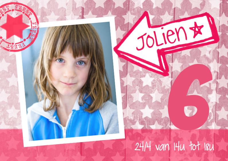 Uitnodiging ster foto Jolien 1