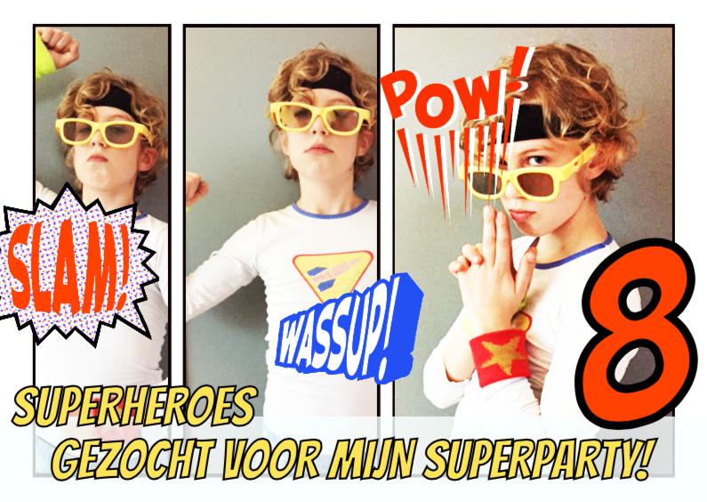 Uitnodiging strip superheroes 1