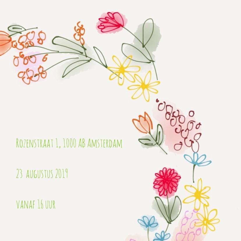 Uitnodiging Tuin Bloemen 3