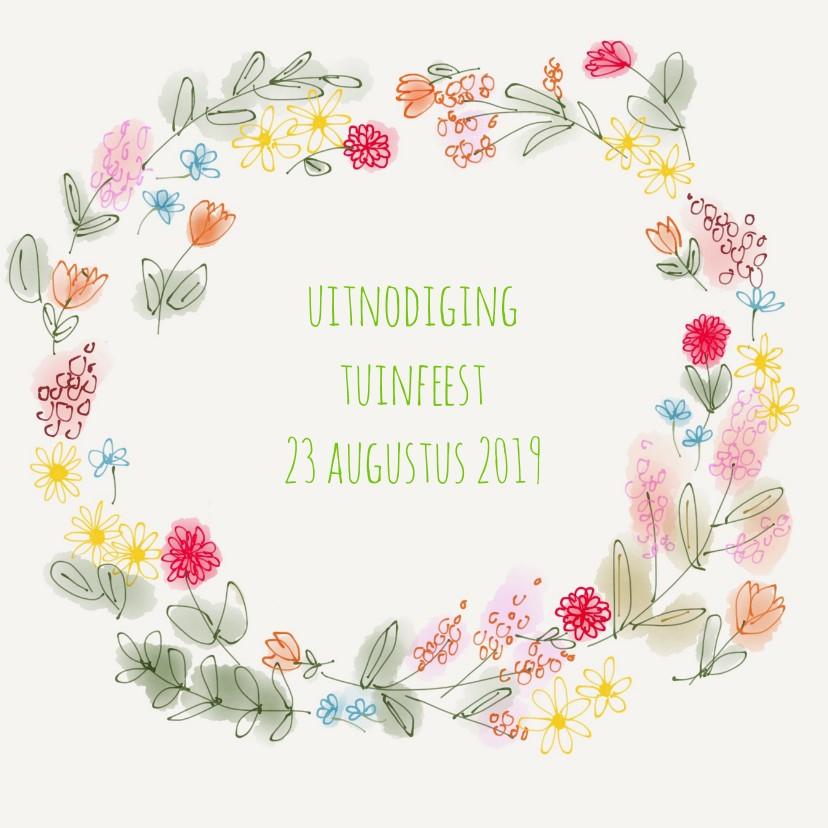 Uitnodiging Tuin Bloemen 1