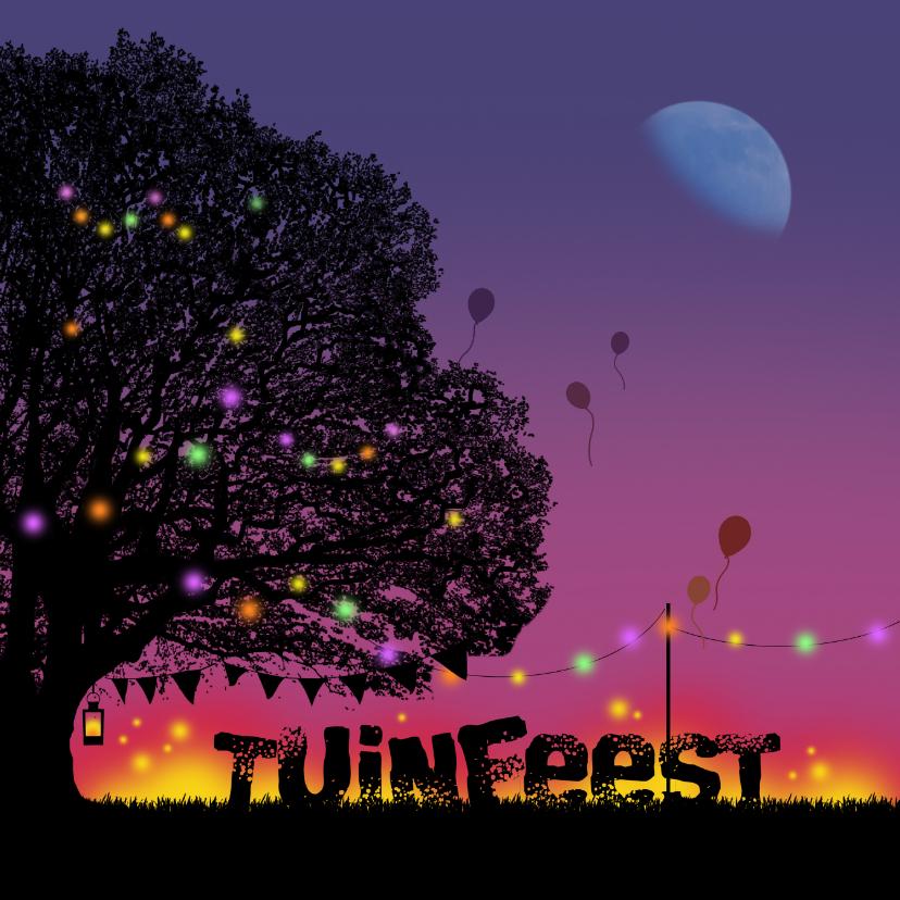 Uitnodiging Tuinfeest nacht 1