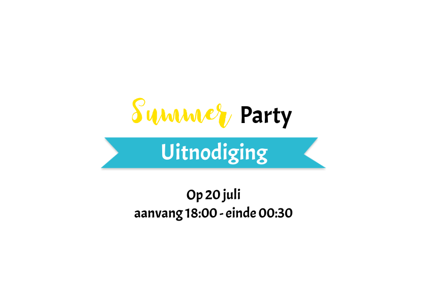 Uitnodiging tuinfeest summer party 2