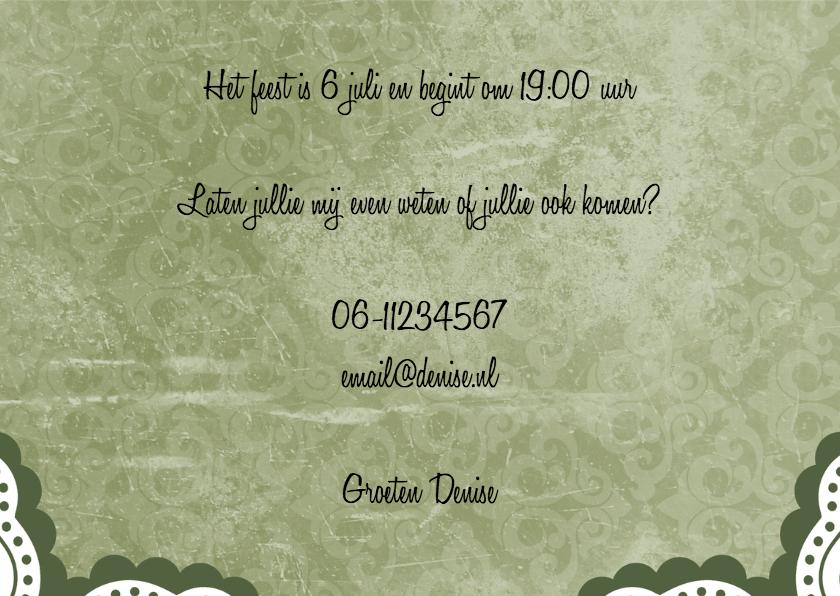 Uitnodiging tuinfeestje - BK 3