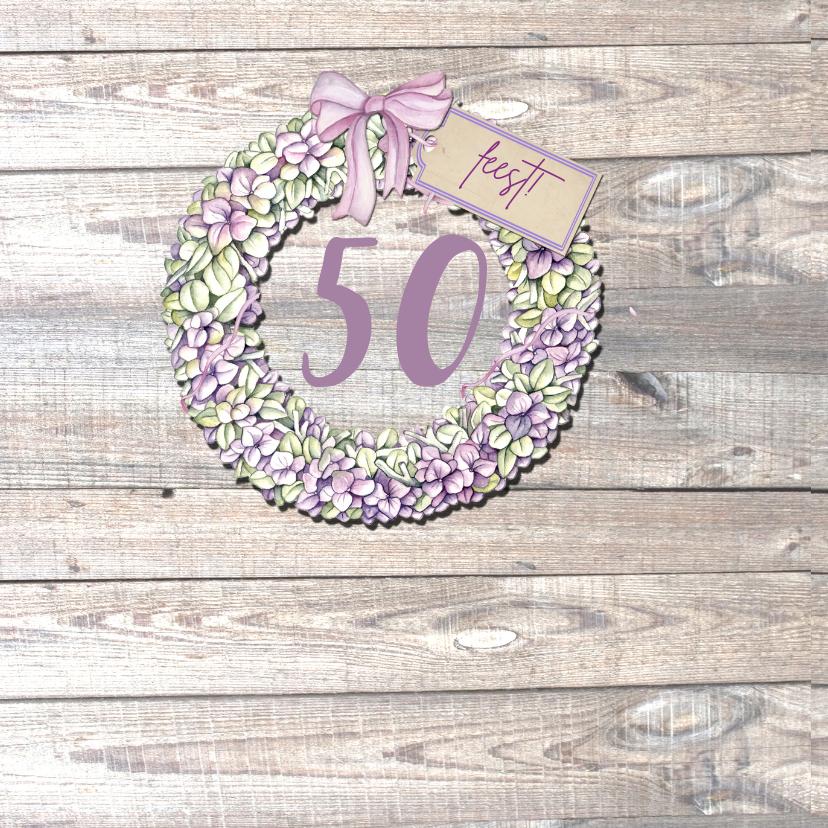 uitnodiging verjaardag bloemen 2