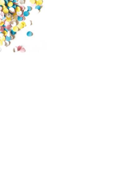 Uitnodiging Verjaardag Confetti Feest 2