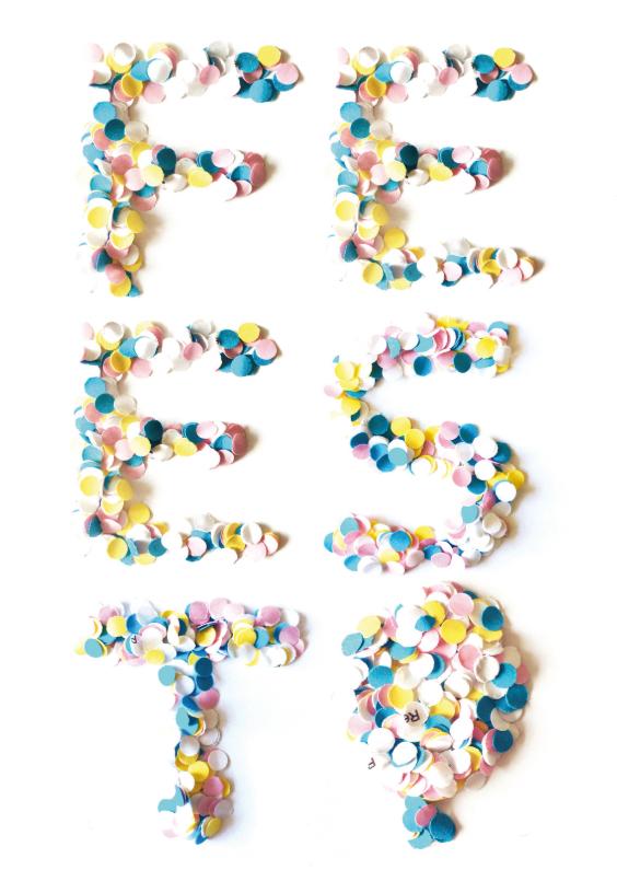 Uitnodiging Verjaardag Confetti Feest 1