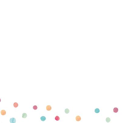 Uitnodiging verjaardag confetti 2