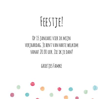 Uitnodiging verjaardag confetti 3