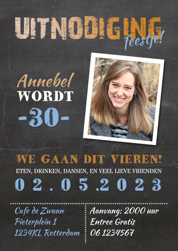 Uitnodiging verjaardag vrouw -AV 1