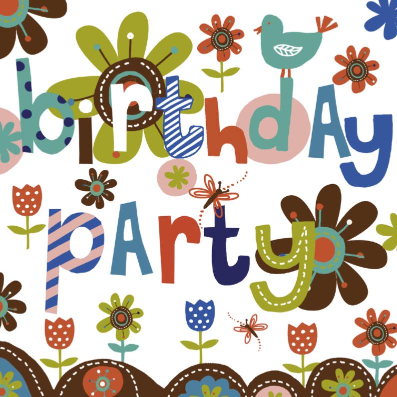 Uitnodiging verjaardagsparty retro 1