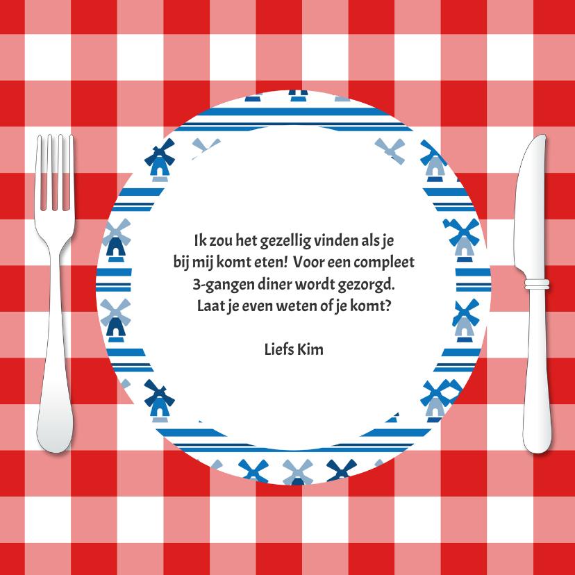 Uitnodiging voor diner - DH 3