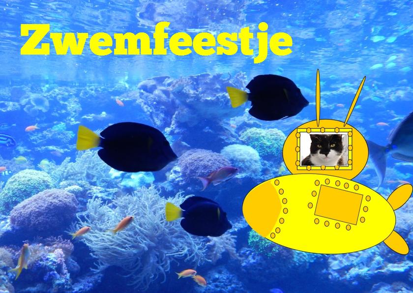 uitnodiging voor zwemfeestje 1