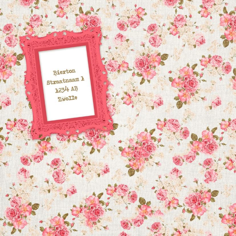 Uitnodiging zoet roze rozen - DH 2
