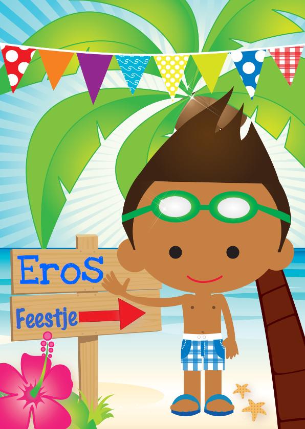Uitnodiging zwemfeestje Eros 1