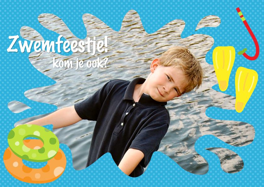 Uitnodiging Zwemfeestje Jongen 1