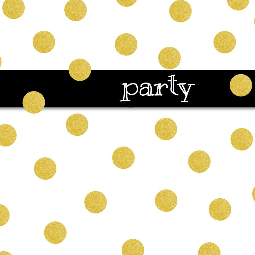 Uitnodigingen Party gele stippen 1