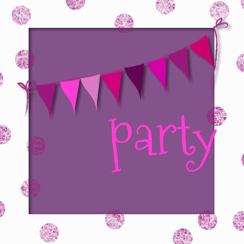 Uitnodigingen Party vlaggetjes 1