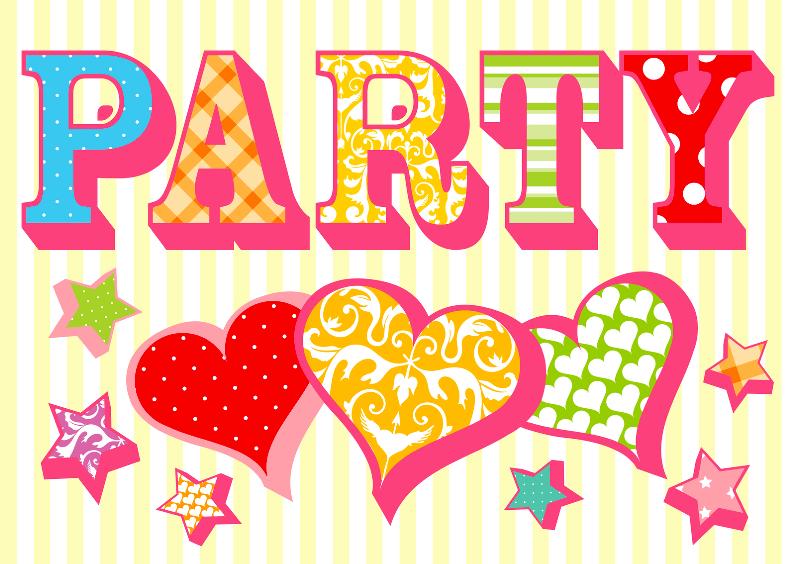 Uitnodigingskaart Party strepen 1