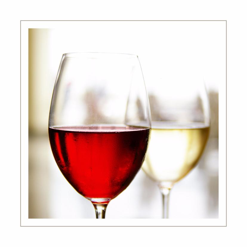 Uitnodigingskaart rode en witte wijn 1