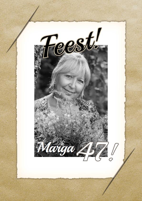 Uitnodigingskaart vintage bloem 1