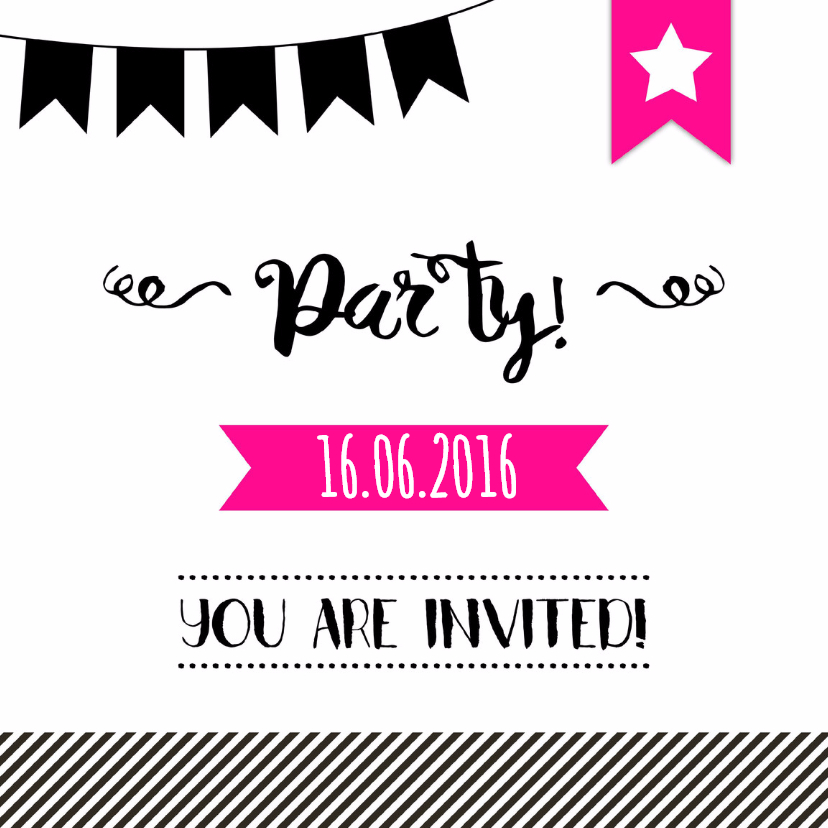 Uitnodigingskaartje Party 2 - WW 1