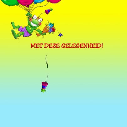 Van Harte kikker met ballonnen 3