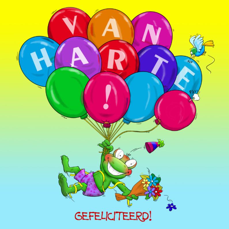 Van Harte kikker met ballonnen 1