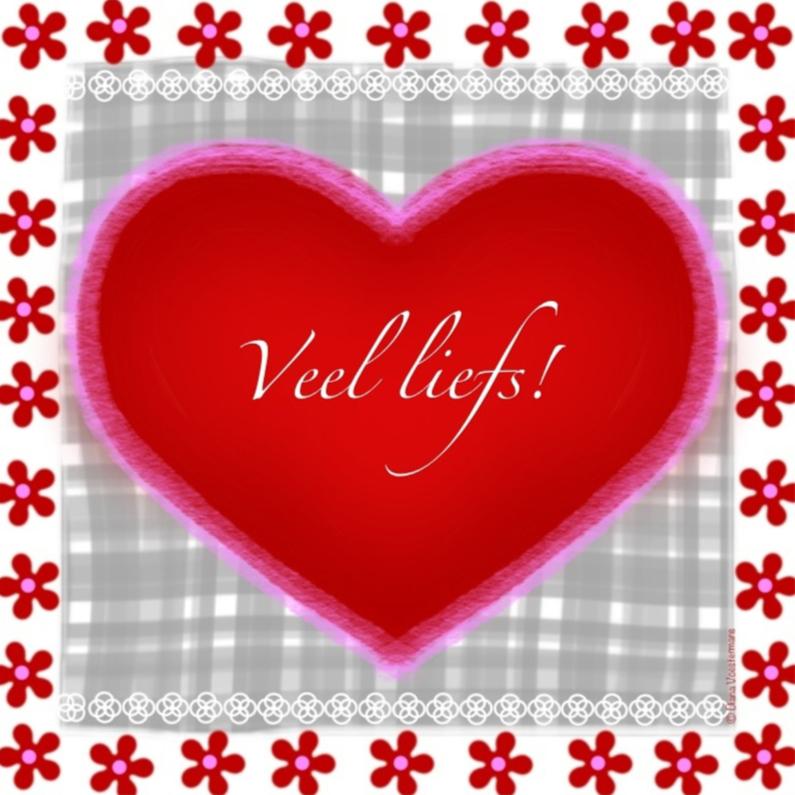 Veel liefs rood hart 1