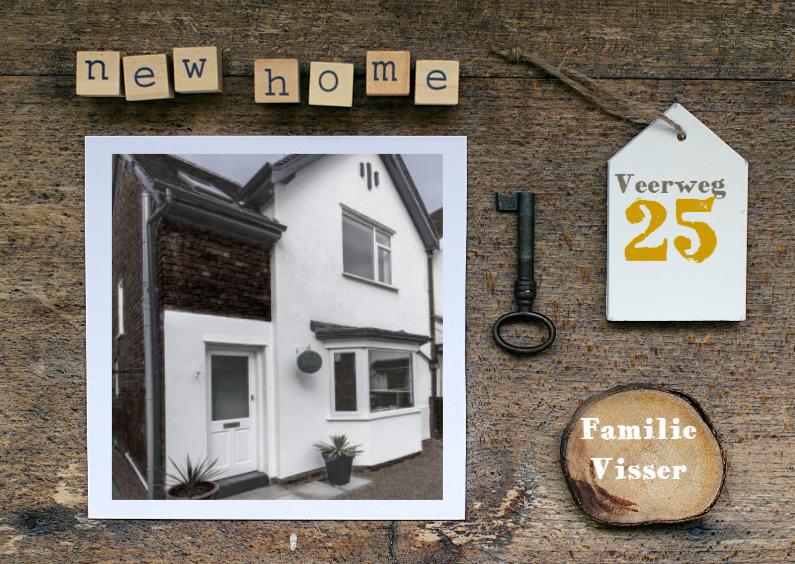 Verhuiskaart collage new home 1