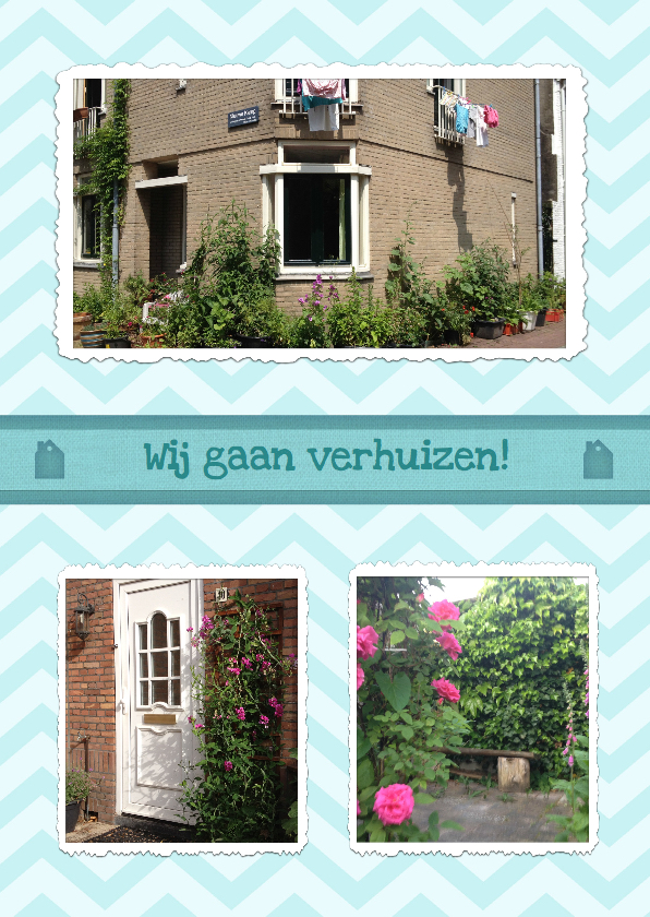Verhuiskaart Foto Collage  1