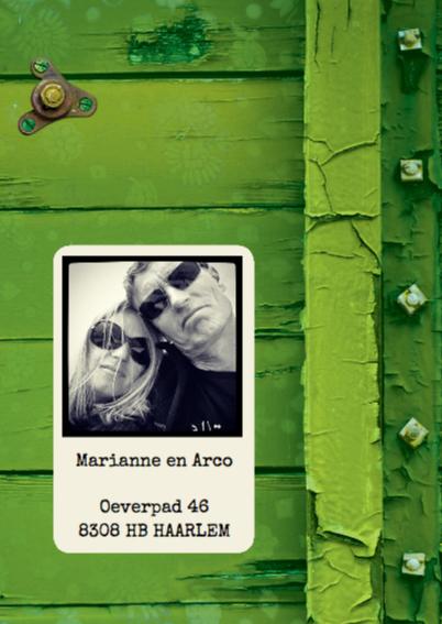 Verhuiskaart groen hout SG 2