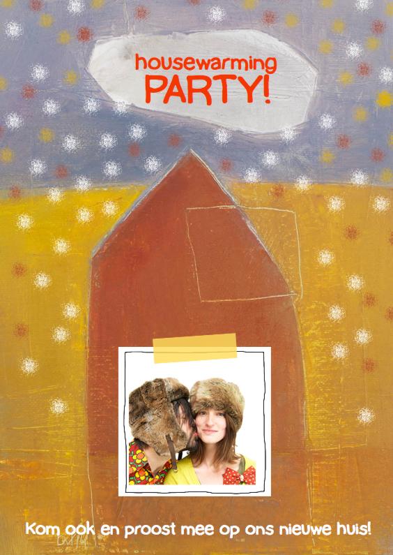 Verhuiskaart housewarming party 1
