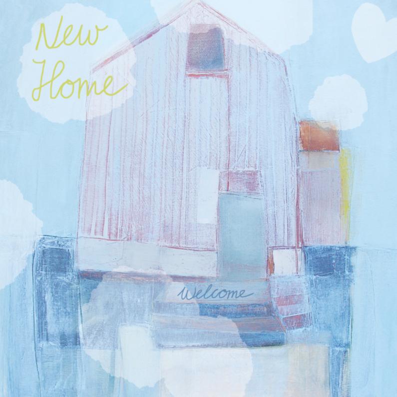 Verhuiskaart huis geschilderd 1