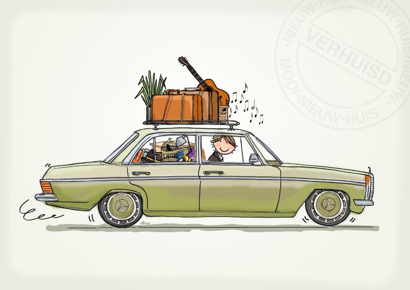 verhuiskaart Mercedes auto  1