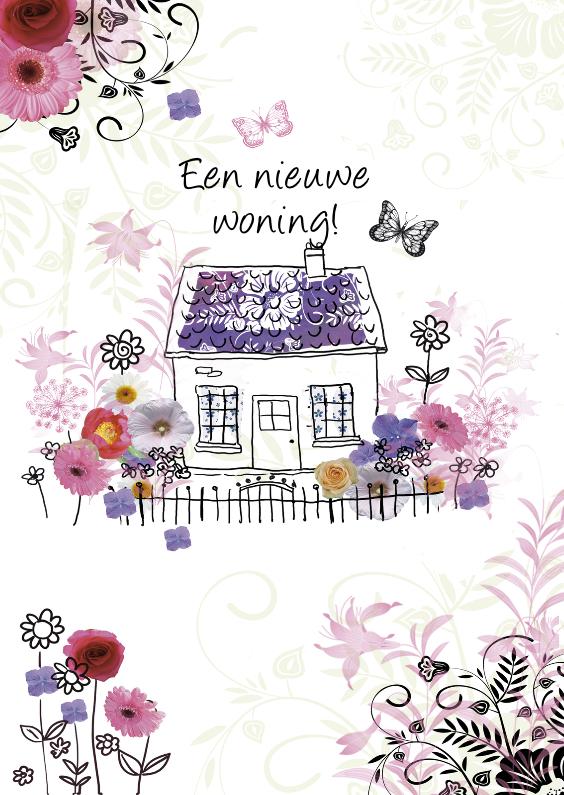 Verhuiskaart met nieuwe woning 1