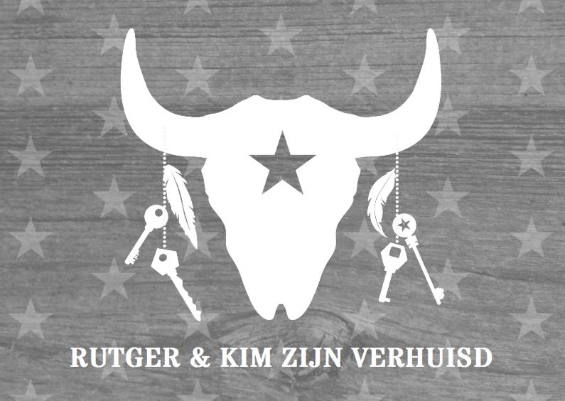 Verhuiskaart skull & stars 1