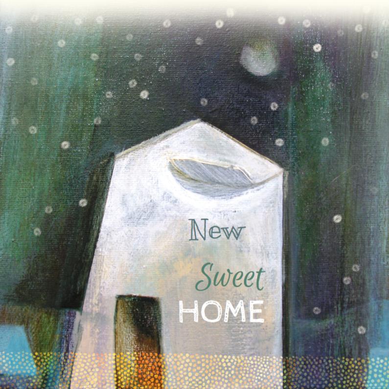 Verhuiskaart sneeuw huis 1